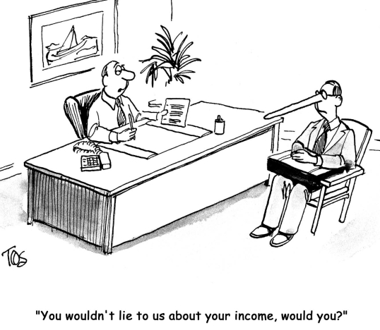 resume interview cartoon