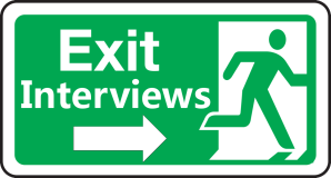 Exit Interviews Sign